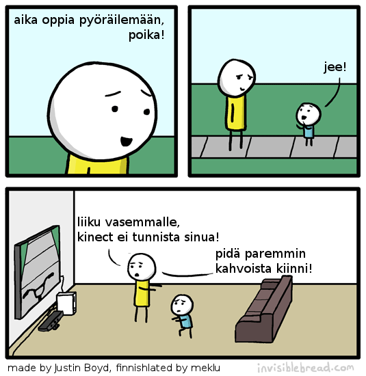 a comic translated into Finnish